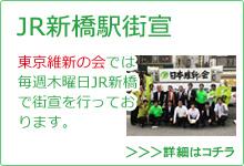 東京維新の会JR新橋駅街宣